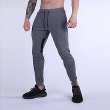 Осень зима 2020 мужские спортивные повседневные брюки облегающие