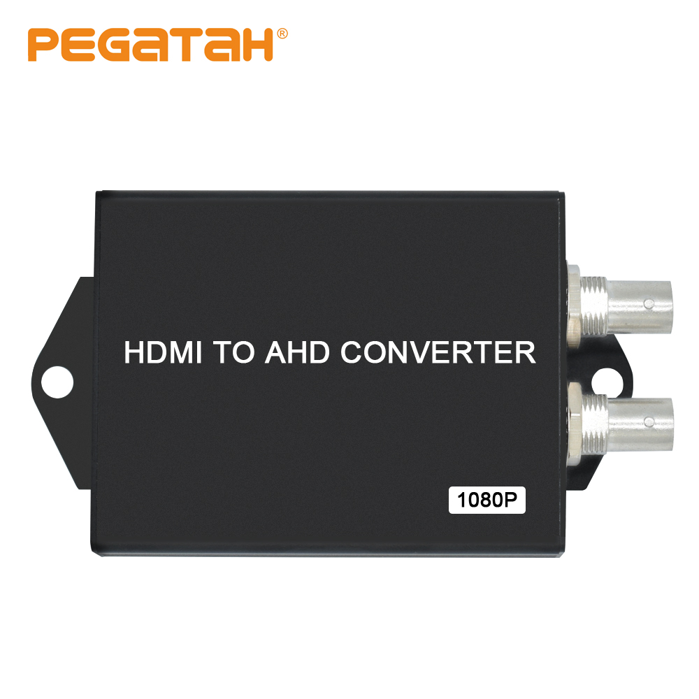 Video Converter With 2 CH BNC AHD Out Port HDMI 1 CH HDMI In Port HDMI To AHD Video Converter For CCTV  Analog Camera Converter