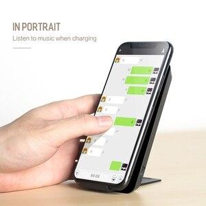 Image 3 - Cargador inalámbrico ROCK para iPhone X 8 plus 10W, cargador Qi, carga inalámbrica para Samsung Galaxy S9 S8 S7 Edge, Cargador USB Pad