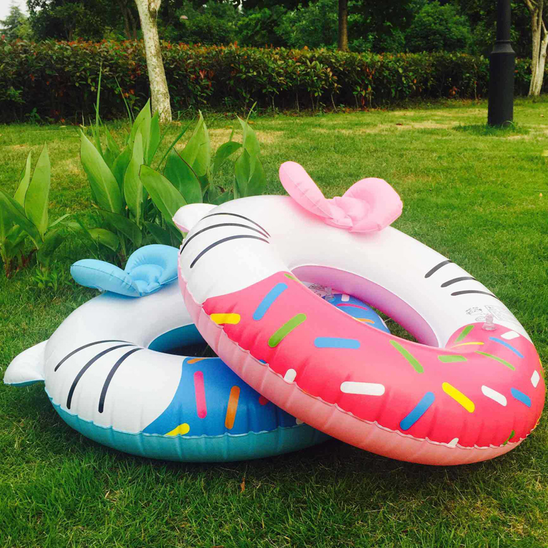New Child Piscina Inflable donut Swimiming Ring Kid Pool Float Swim Lifebuoy HK Cat Circle Flamingo Inflatable Toys
