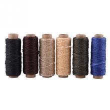 50 м/рулон Вощеная швейная нить для кожаной обуви ручной строчки ремесла инструмент ручной строчки для DIY кожаные швейные нитки