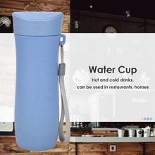 Экологичная пшеничная соломенная Питьевая чашка 300 мл кружка для кофе и чая портативная многофункциональная Съемная чашка крышка кружка бутылка для воды