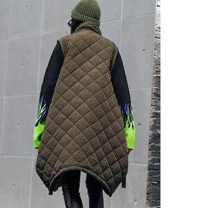 Image 3 - Vefadisa Winter Flocking Sleeveless Vest Woman 2019 Zippers Pockets Vest Coat Loose Cotton padded Vest Black Brown QYF1262