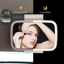 車化粧鏡自動車サンバイザーミラーledライトカー化粧太陽シェーディングミラーカー化粧鏡バニティミラーミラー