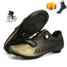 Sapatos de ciclismo mtb homem auto-bloqueio de corrida de bicicleta de estrada sapatos ao ar livre zapatillas tênis de montanha profissional