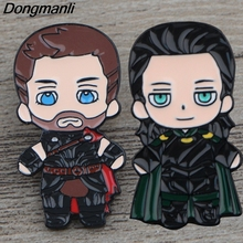 K322 Thor and Loki Pin Metal Brooches Pins Enamel for Backpack/Bag/Jeans Clothes Badge Brooch Jewelry 1PCS
