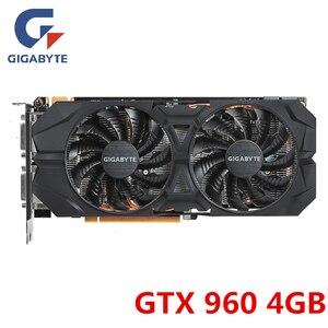 Gigabyte GTX 960 4GB Video Card NVIDIA GTX960 4GB OC Graphics Cards GPU Board Desktop PC Computer Game GTX 950 750 Map VGA DVI