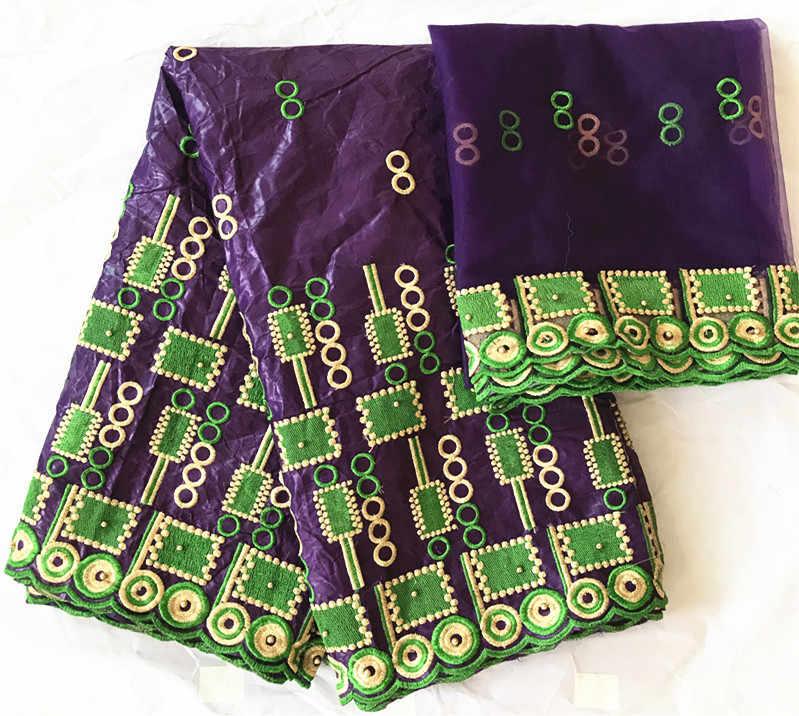 Bazin brode getzner 2019 del merletto di alta qualità ultime donne di modo tissu african bazin riche getzner jacquard broccato 5 + 2 yards/lot