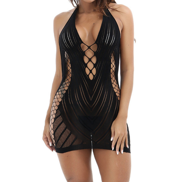 Sexy Lingerie Women Erotic Lingerie Hot Sex Products Sexy Costumes Black Underwear Slips Intimates Dress^40 1