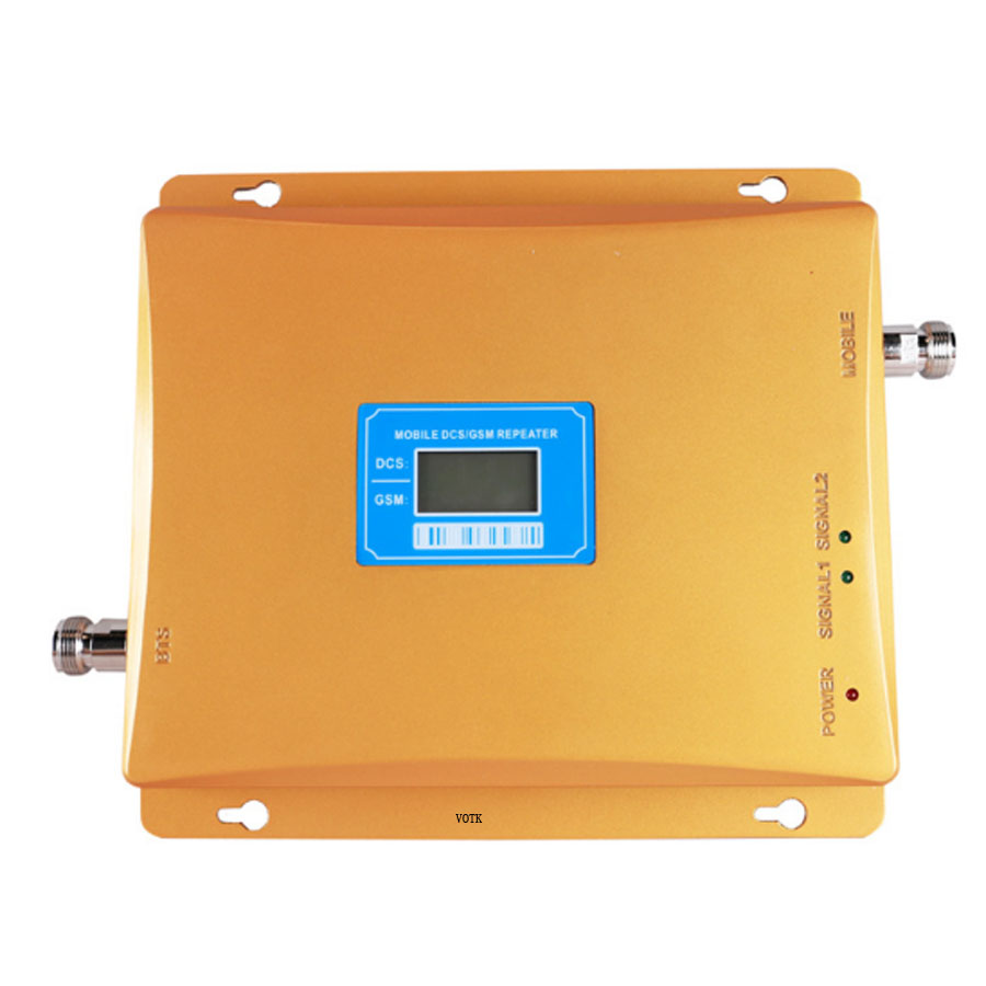 MOBILE 2G 4G Signal Repeater GSM DCS DUAL BAND NETWORK BOOSTER CELLUAR 4G LTE SIGNAL AMPLIFIER WITH LCD DISPLAY