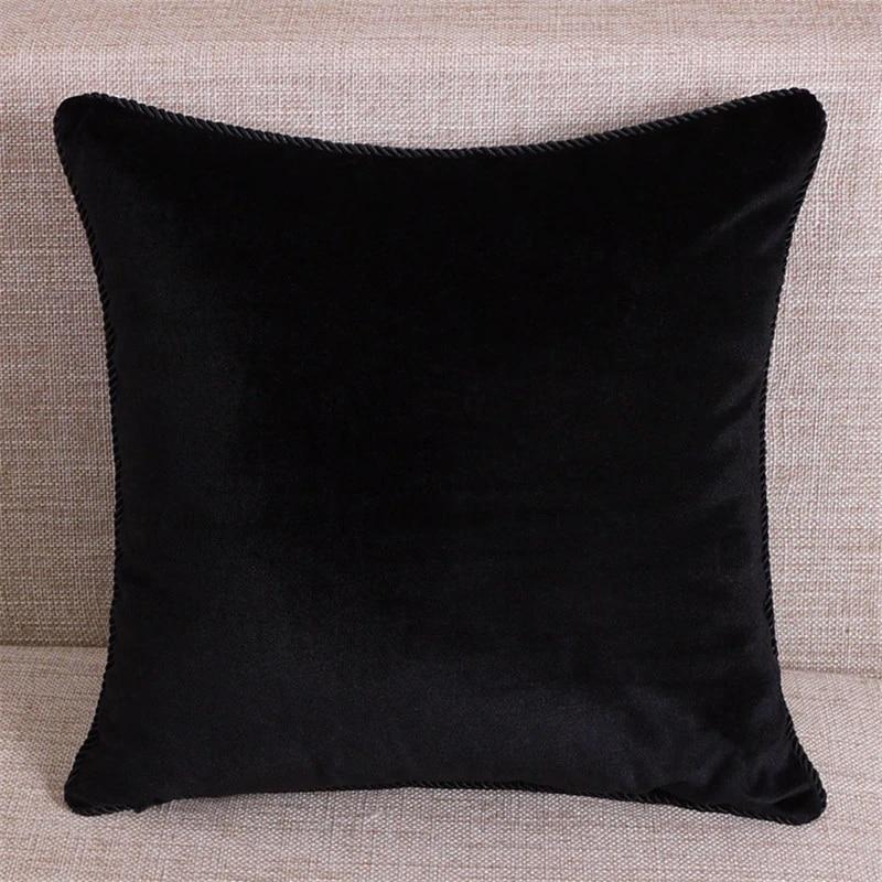 pure color black velvet pillow cover soft velvet cushion cover pillow case velhigh quality plain covers free shipping