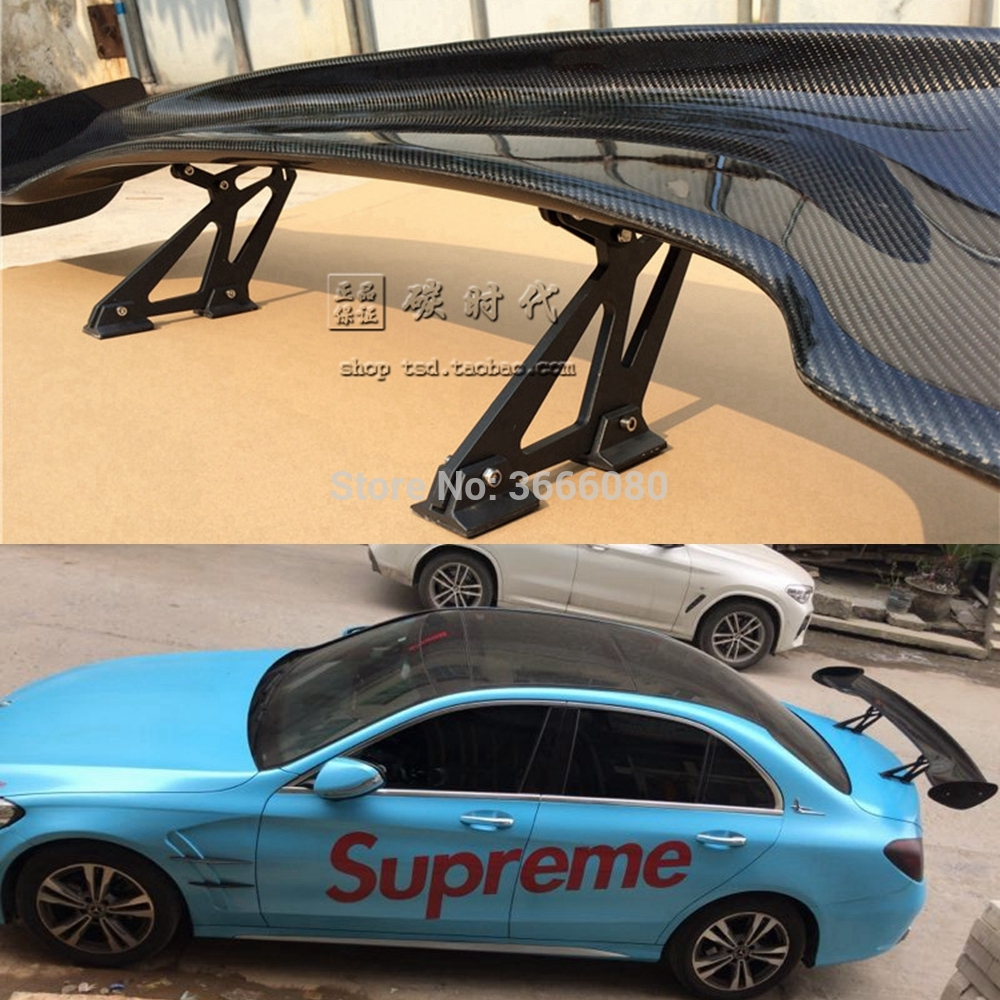Car Styling Carbon Fiber Rear Lip <font><b>Spoiler</b></font> Wing For Benz C-Class <font><b>W205</b></font> <font><b>Spoiler</b></font> C63 C180 C200 C220 C250 2015 2016 4-Door Coupe image