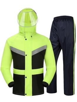 Waterproof Travel Hiking Adult Jacket Raincoat Women Waterproof Set Men Raincoat Hooded Outdoor Regenjacke Plastic Suit JJ