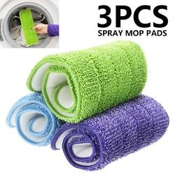 3 Stks/set Thuisgebruik Mop Pads Hoofd Vervanging Huishoudelijke Dust Cleaning Herbruikbare Wasbare Microfiber Pad Hoofd Voor Spray Mop