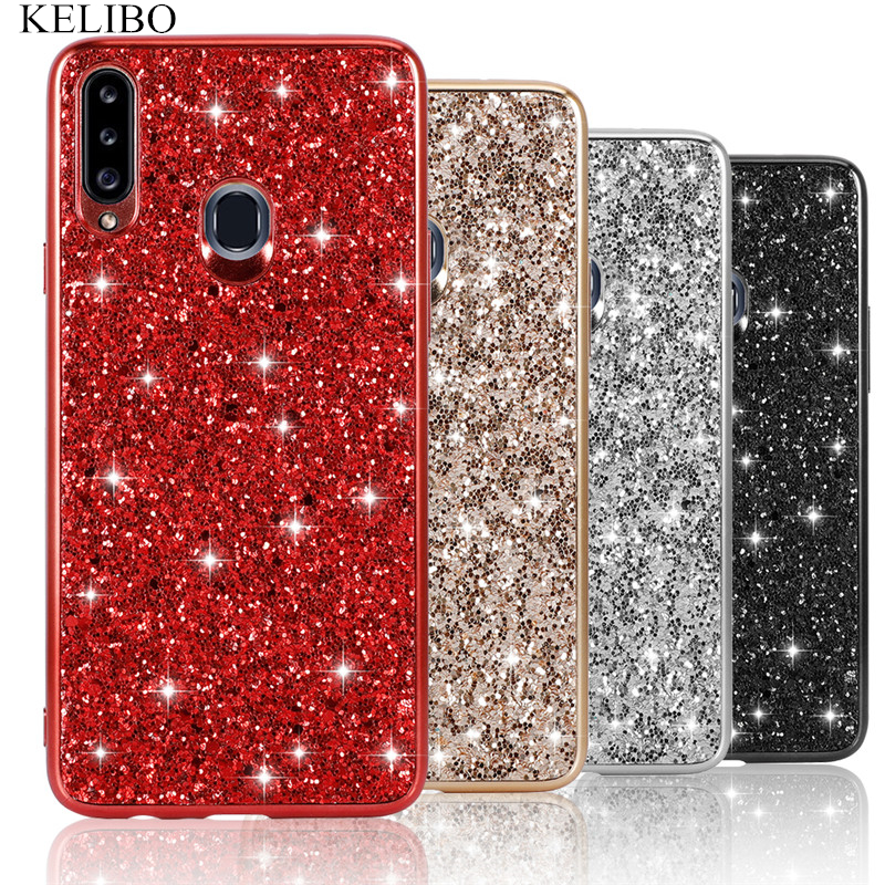 Bling Glitter Case for Samsung A20s A10s A2 Core A20E A10E A9 2018 A6 Plus A7 A9Pro 2019 M10 M20 S10X <font><b>S105G</b></font> Diamond Crystal Capa image