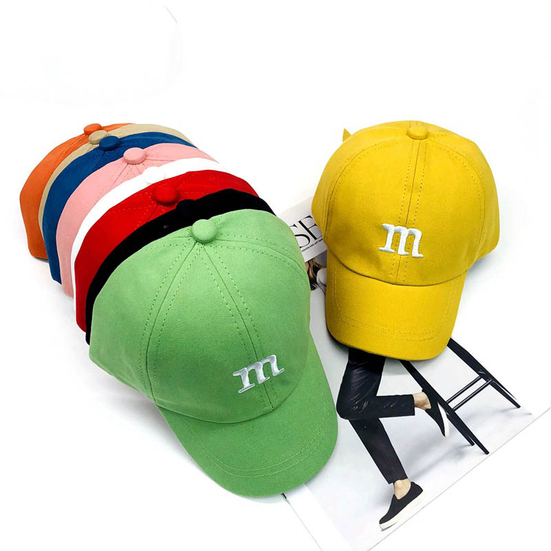 Doitbest Candy Colors Children Baseball Cap Hip Hop 1 To 4 Years Old Embroidery M Kids Sun Hat Boys Girls Caps Snapback Hats