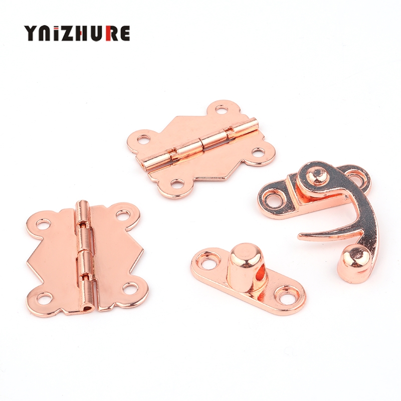 1set Rose gold Butterfly Door Hinges 30mm 90 ° Cabinet Drawer Jewellery Box Decorate Hinge For Furniture Hardware
