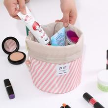 цена на Fashion Round Women Makeup Bag Travel Make Up Organizer Cosmetic Bag Female Storage Toiletry Kit Case Travel Wash Bag