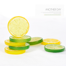 Photography Props Simulation Lemon Slices Fake Fruit kits for Still life Shoot Items Photo Background Ornament Prop