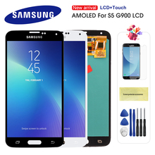 цена на Original S5 LCD For Samsung Galaxy S5 I9600 G900 G900A G900F LCD Display Touch Screen Assembly Replacement Super AMOLED For S5