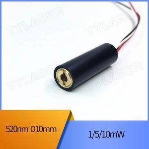 10 мм 520 нм 3/5 В постоянного тока 5 мВт зеленая точка лазерный модуль фокусируемое позиционирование