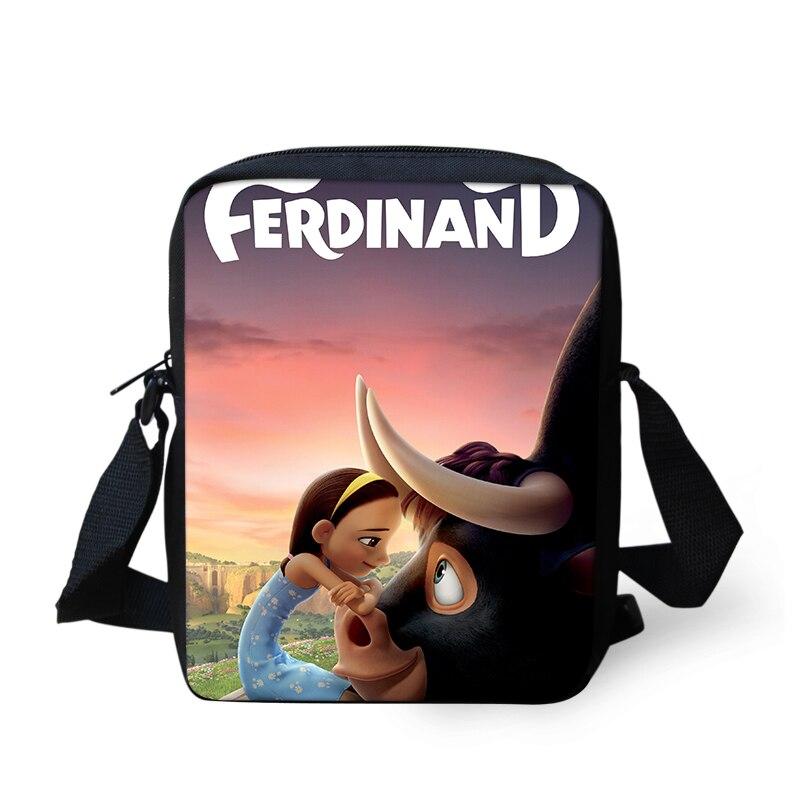 HaoYun/женские сумки-мессенджеры с узором Ferdinands, сумки на плечо с рисунком аниме, дизайнерские подростковые мини-закрылки