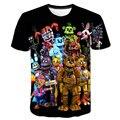 3D с героями игры «пять ночей с Фредди», футболки, высокое качество, Детская футболка с принтом для маленьких мальчиков/Одежда для девочек; Де...