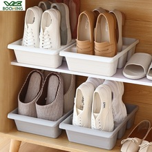 WBBOOMING Home Three Shoes Racks Plastic Japanese Shoe Storage Box Space Saver Organizer Cupboard Cabinets Creative Container