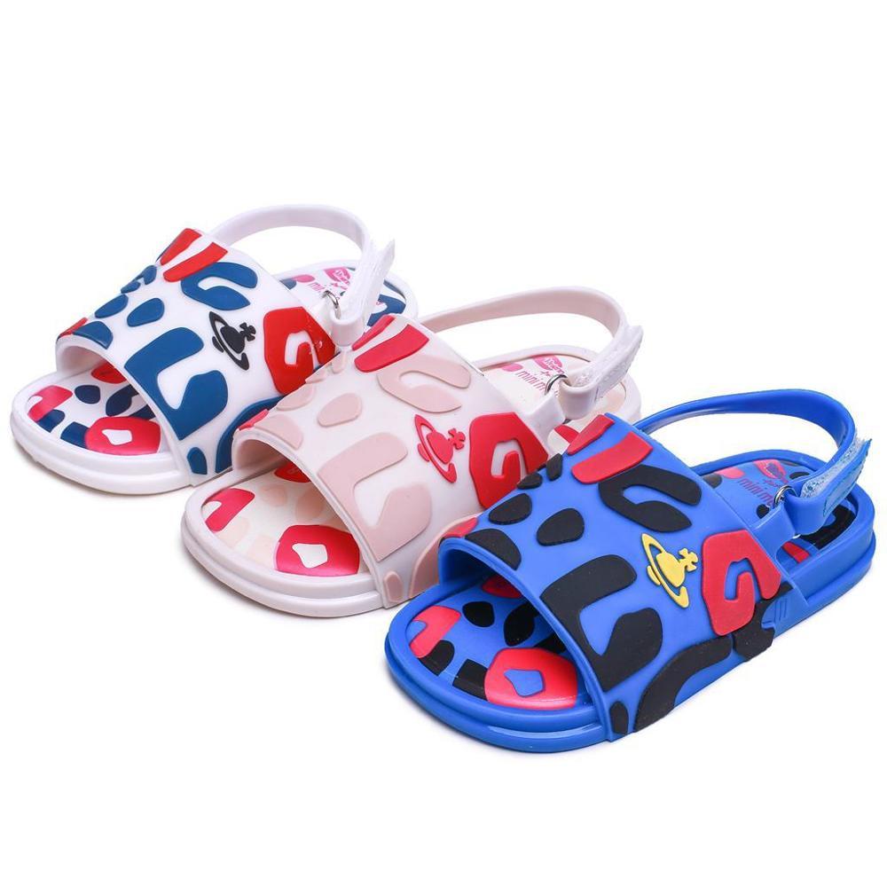Mini Melissa 2019 New Summer Girls Boys Jelly Shoes Non-slip Kids Beach Sandal Toddler Shoe Soft Sandals Girl Flat Shoes SH19081