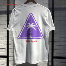 Palm Angels T shirt Men Women 1:1 Best Quality Coconut Tree Printing Palm Angels Top Tees Palm Angels T-Shirt palm angels головной убор