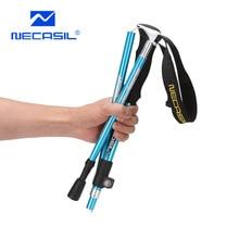 Hiking-Pole-Trekking-Pole Aluminum-Alloy-Steel Walk-Stick Straight-Grip-Handle Folding