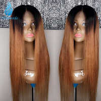 SHD Ombre Color Lace Front Wigs with Baby Hair Glueless 13*4 Lace Frontal Wigs 150% Density Malaysian Remy Human Hair Wigs