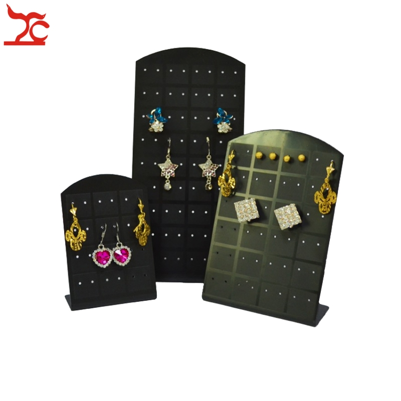 Fashion Earrings Jewelry Organizer Stand Showcase Black Earring Stud Display Rack Convenient Earring Jewelry Hanging Holder