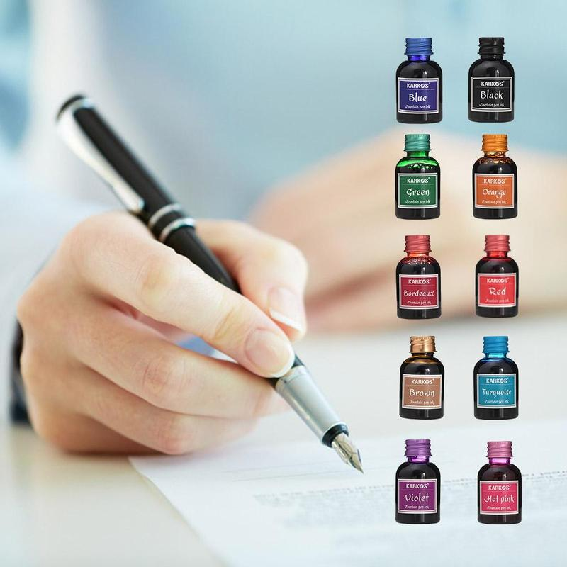 Multicolor Pure Colorful 30ml Fountain Pen Ink Refilling Inks Stationery  School Office Supply| | - AliExpress