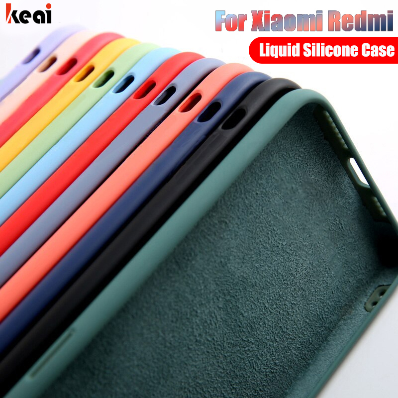 Liquid Silicone Case For Xiaomi Redmi Note 9S 8 7 6 5 9 Pro K20 K30 Cover For Xiaomi Mi Note 10 Lite 9T Pro 9 SE Shockproof Case(China)