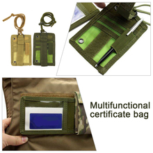 Wallet Pouch Patch Id-Card-Holder Travel-Waist-Bag Neck-Lanyard Outdoor Edc Tactical
