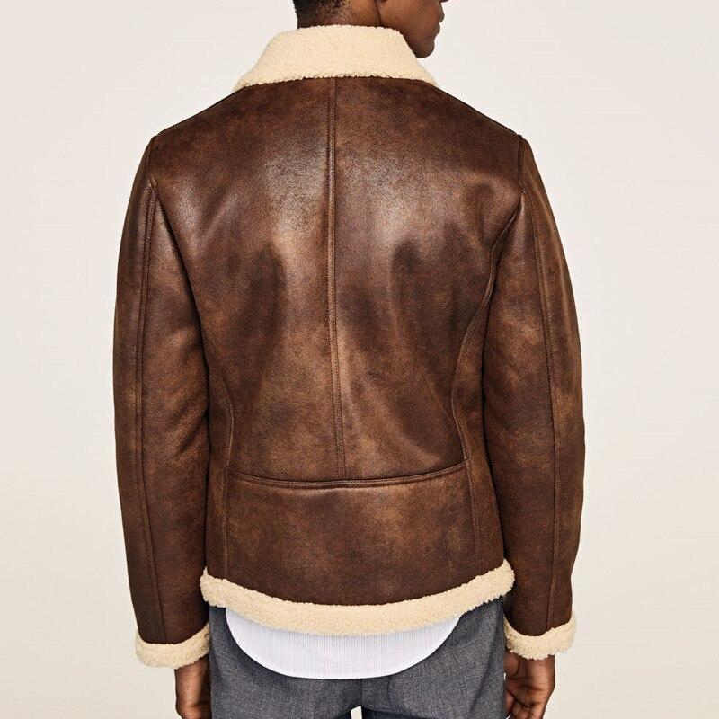 EWQ/2019 Новая модная осенне зимняя короткая бархатная куртка для мужчин свободного покроя с лацканами в японском стиле Chaqueta Hombre 9A164 - 2