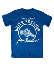 Vater Und Tochter T-Shirt Blau Vater Beste Freunde Gehalten Baby Art Papa Superheld Sommer Stil T-shirt