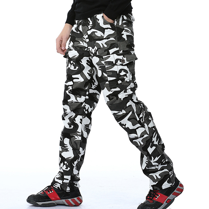Wish AliExpress Men Brushed And Thick Camouflage Bib Overall Men's Outdoor Casual Long Pants