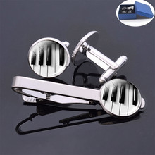 Piano Cufflinks Music Instruments Cleft Picture Glass Cabochon  Tie of Clips Guitar Clarinet Flute Violin Christmas Gifts m obiols divertimento for flute clarinet and piano