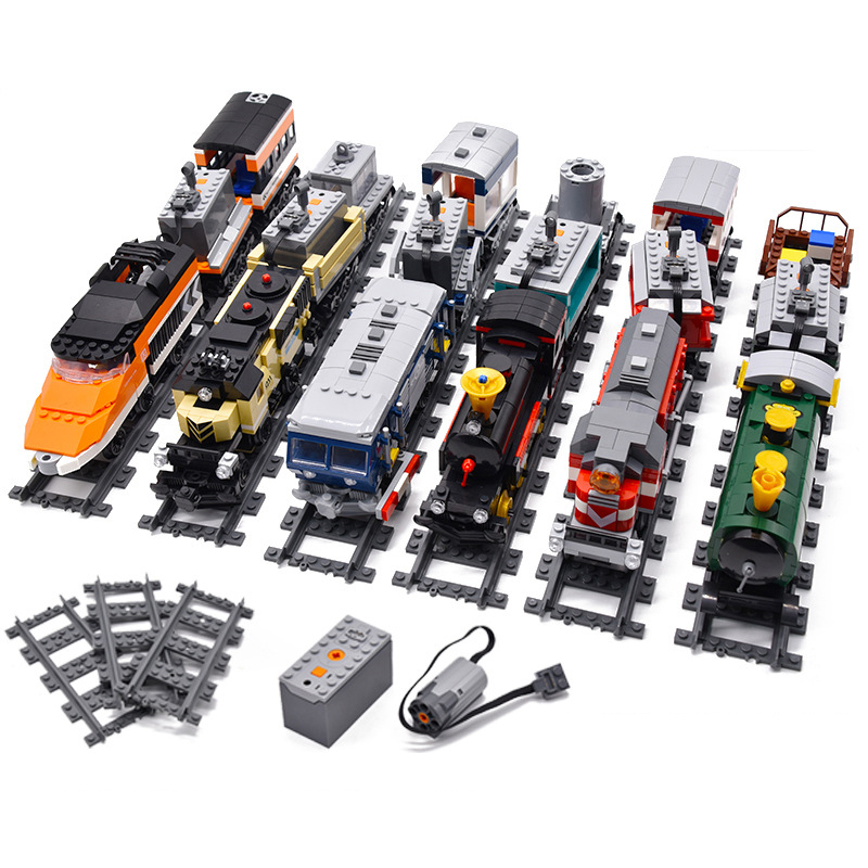New Liberated Train Technic Battery Powered Electric City Train Rail Legoes Building Blocks DIY Bricks Toys For Children Gifts