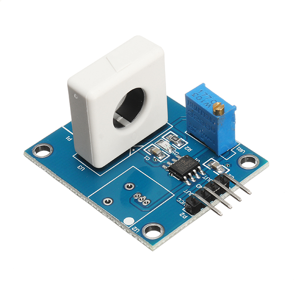DC 5V WCS1800 Hall Current Detection Sensor Module 35A Precise With Overcurrent Signal Lamp