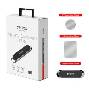 Image 5 - Yesido Mini magnetyczny uchwyt samochodowy na telefon pasek kształt stojak na iPhone Samsung Xiaomi huawei metalowy magnes GPS do montażu na desce rozdzielczej samochodu