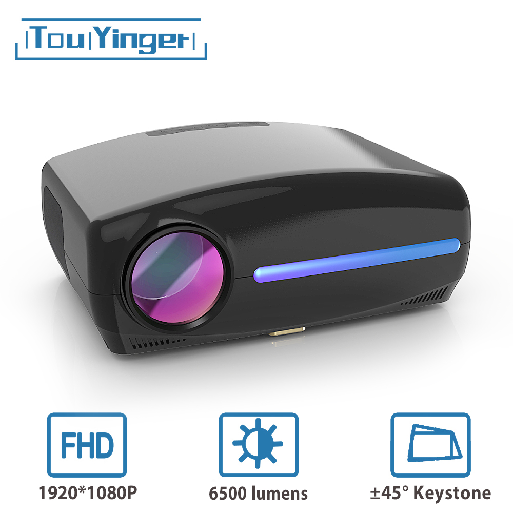 Touyinger S1080 C2 LED Native 1080P Projector full HD beamer AC3 Video 6500 Lumens Home cinema HDMI Android 9.0 WIFI Optional(China)