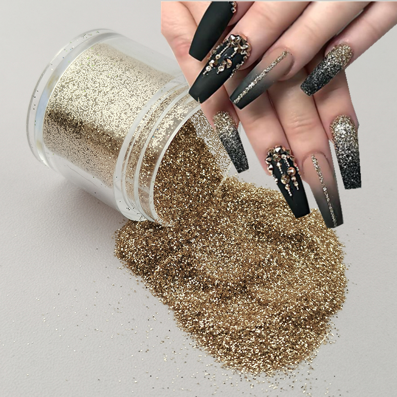 1 Bottle Holographic Nail Glitter Powder Shining Sugar Nail Glitter Hot Sale Dust Powder Nail Art Decorations 20 Colors