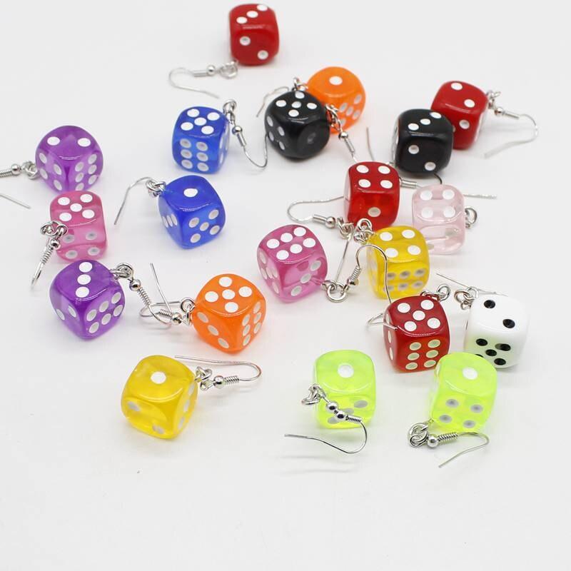 Hanging Asymmetric Geometric Cute Drop Earrings With Interesting Building Blocks Candy-colored Building Blocks For Women Girls K