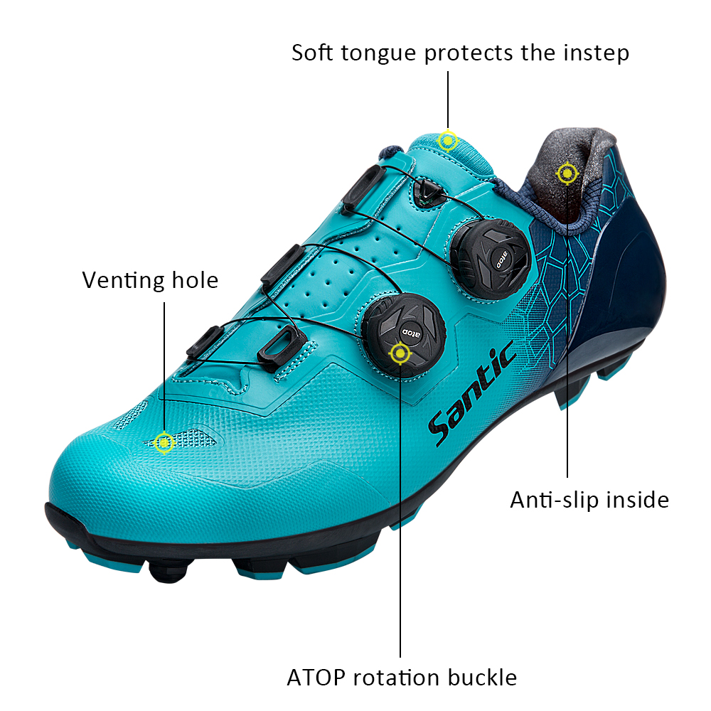 Image 2 - Santic Cycling Shoes MTB  Sneaker Anti skid Wear resistant profession Self Locking Outdoor sports Bike Shoes MS19003Cycling Shoes   -