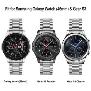 Image 5 - Unique Stainless Steel Watchband + No Gap Clips for Samsung Galaxy Watch 46mm SM R800 Hand Detach Band Quick release Strap Belt