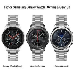 Image 5 - Độc đáo Thép không Rỉ + Không Có Khoảng Cách Kẹp dành cho Samsung Galaxy Samsung Galaxy Dây 46mm SM R800 Tay Tháo Rời Ban Nhạc phát hành Nhanh dây đeo Thắt Lưng