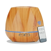 500Ml Remote Control Aroma Diffuser Ultrasonic Cool Mist Humidifier Air Purifier 7 Color Change Led Night Light For Office Home